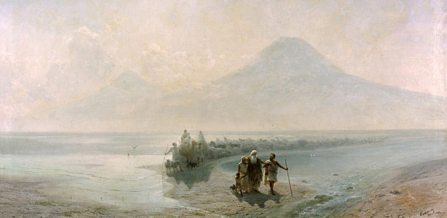 Descent of Noah from Mountain Ararat, Ivan Aivazovsky