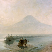 Ivan Aivazovsky, Descent of Noah from Mountain Ararat (thumbnail)