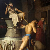 Carl Bloch, Samson and the Philistines (thumbnail)