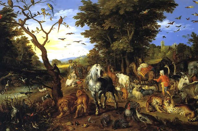 Jan Brueghel the Elder, The Entry of the Animals into Noah's Ark