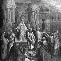 Gustave Dore, Cyrus Restoring the Vessels of the Temple (thumbnail)