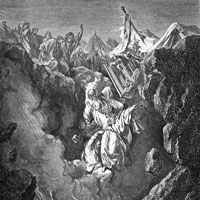 Gustave Dore, Death of Korah, Dathan and Abiram (thumbnail)
