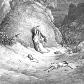 Gustave Dore, Hagar and Ishmael in the Wilderness (thumbnail)