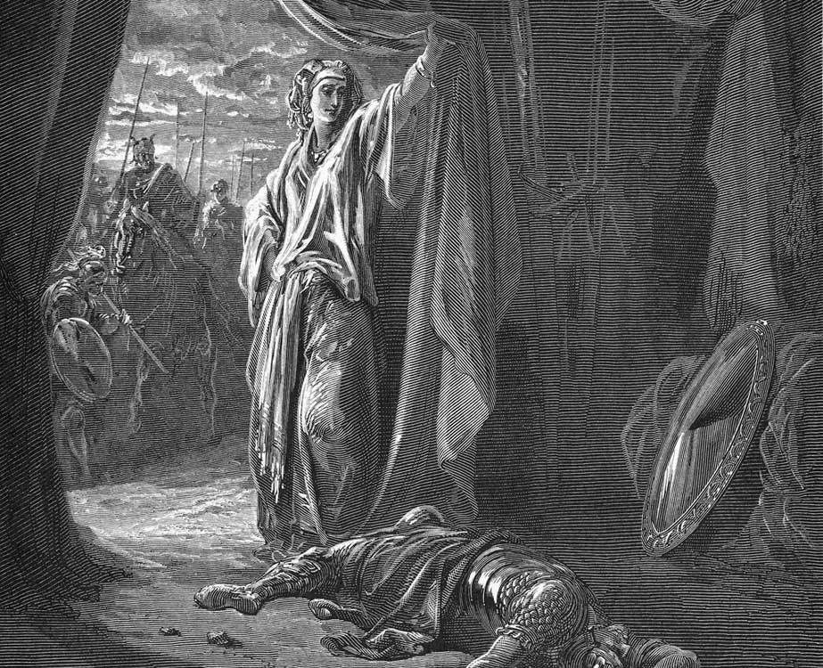 Jael and Sisera, Gustave Dore