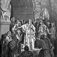 Gustave Dore, The Queen Vashti Refusing to Obey the Command of Ahasuerus (thumbnail)