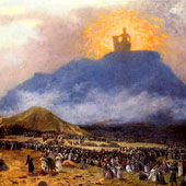 Jean-Leon Gerome, Moses on Mount Sinai (thumbnail)