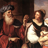Guercino, Abraham Casting Out Hagar and Ishmael (thumbnail)