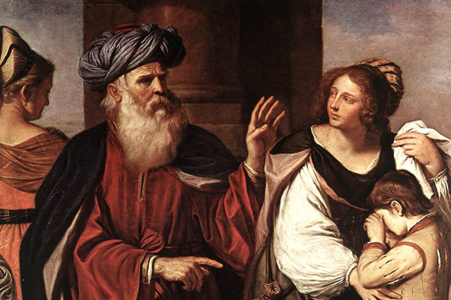 Guercino (Giovanni Francesco Barbieri), Abraham Casting Out Hagar and Ishmael