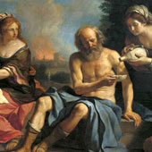 Guercino (Giovanni Francesco Barbieri), Lot and His Daughters (thumbnail)