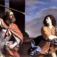 Guercino, Saul attacking David (thumbnail)