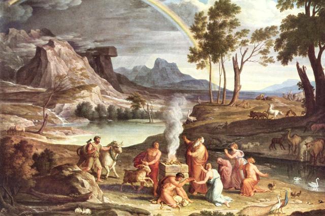 Joseph Anton Koch, Landscape with the Offerings of Noah