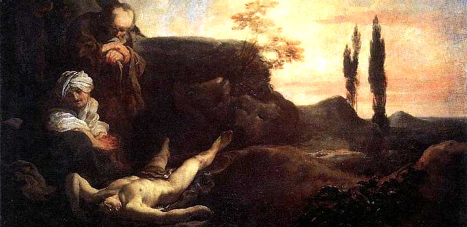 Adam and Eve Mourning for Abel, Johann Liss