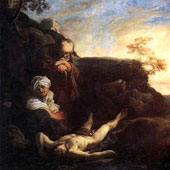 Johann Liss, Adam and Eve Mourning for Abel (thumbnail)