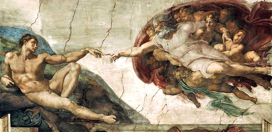 The Creation of Adam, Michelangelo (di Lodovico Buonarroti Simoni)