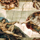 Michelangelo, The Creation of Adam (thumbnail)