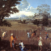 Nicolas Poussin, The Summer of Ruth and Boaz (thumbnail)