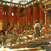 Edward John Poynter, The visit of the Queen of Sheba to King Solomon (thumbnail)