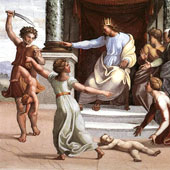 Raphael (Raffaello Sanzio da Urbino), The Judgment of Solomon (thumbnail)