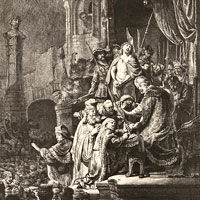 Rembrandt Harmenszoon van Rijn, Christ before Pilate (thumbnail)