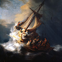 Rembrandt Harmenszoon van Rijn, Christ in the Storm on the Sea of Galilee (thumbnail)