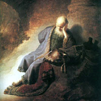 Rembrandt Harmenszoon van Rijn, Jeremiah Lamenting the Destruction of Jerusalem (thumbnail)