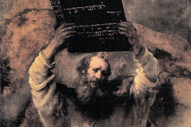 Rembrandt Harmenszoon van Rijn, Moses Smashing the Tablets of the Law