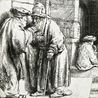 Rembrandt Harmenszoon van Rijn, Pharisees in the Temple (thumbnail)