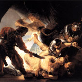 Rembrandt Harmenszoon van Rijn, The Blinding of Samson (thumbnail)