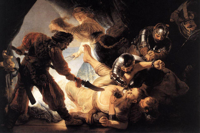 BIBLEing.com - Images - The Blinding of Samson