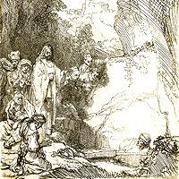 Rembrandt Harmenszoon van Rijn, The Raising of Lazarus (thumbnail)
