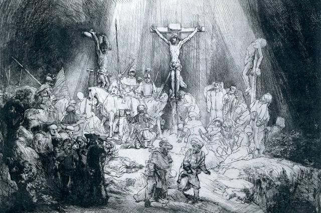 Rembrandt Harmenszoon van Rijn, The Three Crosses