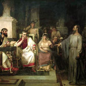 Vasily Surikov, The Apostle Paul Explains the Tenets of Faith in the Presence of King Agrippa his sister Berenice and the Proconsul Festus (thumbnail)