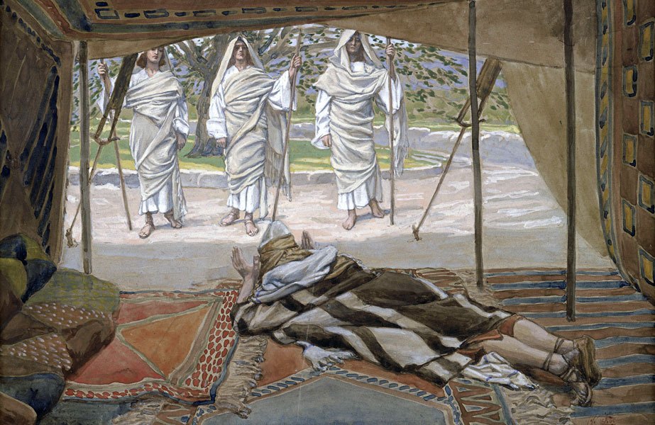 Abraham and the Three Angels, James Tissot