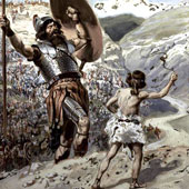 James Tissot, David Slings the Stone (thumbnail)