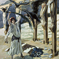 James Tissot, Rizpah's Kindness Toward the Dead (thumbnail)