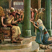 James Tissot, The Wisdom of Solomon (thumbnail)