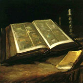 Vincent van Gogh, Still Life with Bible (thumbnail)