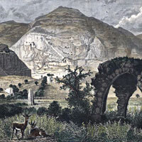 Charles William Wilson, Mount Quarantania from the Site of Jericho (thumbnail)