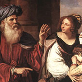 Guercino, Abraham Casting Out Hagar and Ishmael