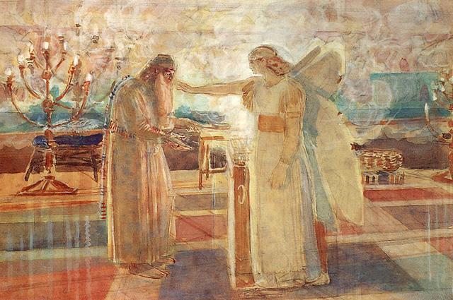 Alexander Andreyevich Ivanov, Archangel Gabriel Striking Zacharias with Muteness