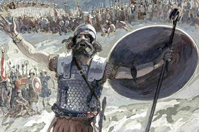James Tissot, Defiance of Goliath